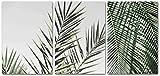 Carteles e impresiones Decoración tropical de verano Hoja de palma Lienzo Pintura Cartel de estilo nórdico Imagen de impresión de planta verde 3 piezas 40x60cm sin marco
