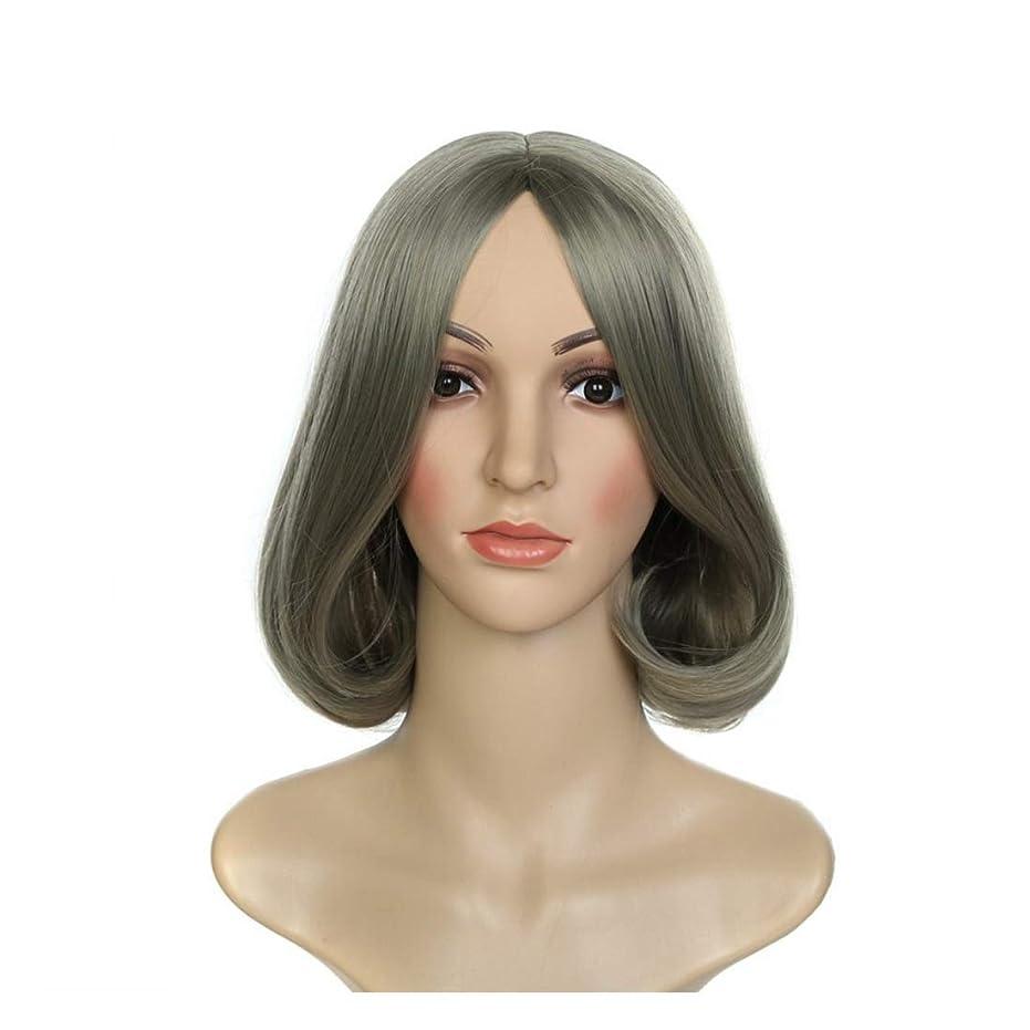 灰風味トラブルJIANFU ウィッグウィッグウィッグコスプレウィッグショートヘアファッションレディースウィッグ (Color : Photo Color)