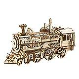 Robotime 3D立体パズル 木製 レーザーカット ギア ミニチュア オモチャ 知育玩具 男の子 女の子 大人 入園祝い 新年 ギフト 誕生日 クリスマス プレゼント 贈り物(ロコモーティブ)