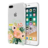 Rifle Paper Co. Protective Case for iPhone 8 Plus, iPhone 7 Plus & iPhone 6/6s Plus - Graphic Bouquet Multi/Clear