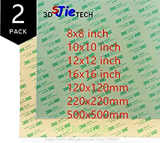 Zamtac 2pcs 100/120/150mm/200mm/220mm/235mm/10''/12''/16''/500mm PEI Sheet 468MP Adhesive Tape 3D Printer Build Surface Polyetherimide - (Size: 150x150mm)