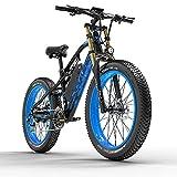 Extrbici Bicicleta Eléctrica de Montaña para Adultos 750W 48V 17Ah Li-Ion Neumáticos de 26'' Pulgadas Doble Suspensión Velocidad Máxima 31MPH con Guardabarros XF900