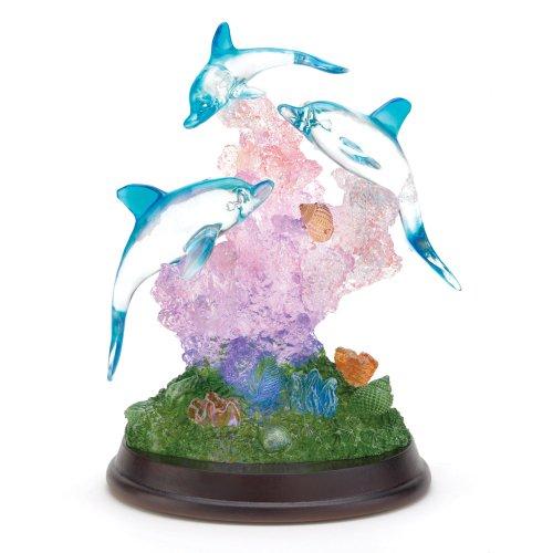 Gifts & Decor Light Up Dolphin Sculpture Figurine Desk Table Figure