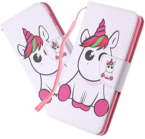 LEMAXELERS Carcasa iPhone 6S / iPhone 6,Funda iPhone 6S Carcasa Flor de Mariposa Pintura de Dibujo de Tipo Libro con Ranuras Tarjetas de Soporte Solapa con Cierre magnético Case,HX Pink Unicorn