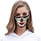 1pc Halloween Printed_Masks Scary Mouth Guard for Face Protection Washable Earloop for Women Men Outdoor Sports Activities Safty Face Covering,A