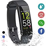 K-berho Fitness Tracker HR,Activity Tracker Watch with Heart Rate Monitor, Sleep Monitor, Smart Fitness Band with Step Counter, Calorie Counter Watch Waterproof, Pedometer Watch for Kid Women and Men