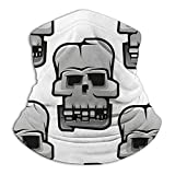 Cracked Old Human Skulls Abstract Angry Neck Gaiter Tube Mask Headwear, Motorcycle Face Mask For Women Men Face Scarf