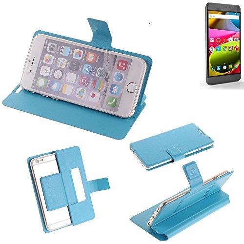 K-S-Trade® Flipcover Für Archos 50 Cobalt Schutz Hülle Schutzhülle Flip Cover Handy Case Smartphone Handyhülle Blau