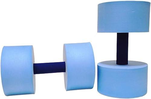 Sunlite Sports High-Density EVA-Foam Dumbbell Set, Water Weight, Soft Padded, Water Aerobics, Aqua Therapy, Pool Fitn...