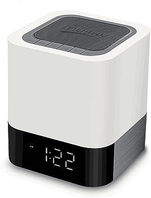 Bluetooth portátil Control Táctil Color luz de noche lámpara de mesita de noche,HomeYoo Touch