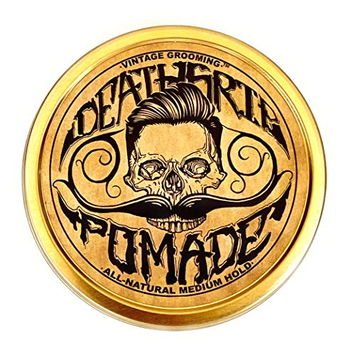 Pomade For Men's Grooming Styling Hair & Beard with Beeswax | Medium Hold & Shine | Like Gel Mousse Cream Or Grease | 4 Ounces Natural Handmade in USA | Citrus Scented & Essential Oils | By Death Grip