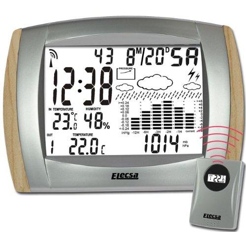 BUCHE Design Wetterstation Funkwetterstation Elecsa 6957