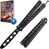 Butterfly Knife Trainer - Balisong Trainer - Practice Butterfly Knife - Balisong Butterfly Knives NOT Real NOT Sharp...