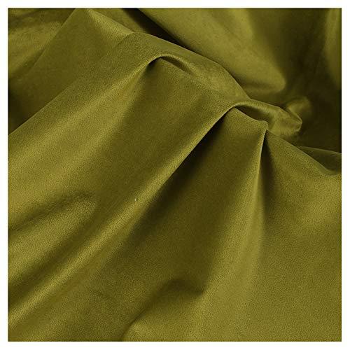 Tela De Terciopelo Verde Brillante Tela De Terciopelo Terciopelo Holandés Opaco Tejido De Base Bordado Terciopelo Lisi Cortina De Almohada para Sofá(Size:1.5M*5M,Color:Pasto Verde)
