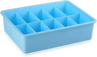 BESTONZON 3pcs Multi-Purpose Underwear Storage Boxes/Multi-Purpose Containers/Drawer Organizer Divider,for Underwear,Bras,Socks(Blue)