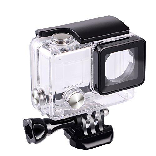 SupTig wasserdichte Schutzhülle für GoPro Hero 4, 3+, 3, für Verwendung der Sport-Kamera bis 45 m unter Wasser