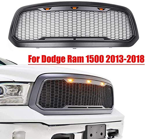 HYNB Racing grille front grille shell met LED-licht auto-styling auto-accessoires voor Dodge RAM 1500 2013-2018