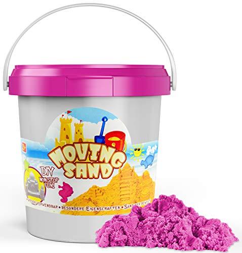 L + H WORLD Magic Kinetic Sand 1kg | Kinetischer Sand im XXL Set | Bunter Magischer Spielsand für Kinder | Sand Spielset für Sandkasten geeignet für Kinder Jungen & Mädchen für Drinnen & Draußen