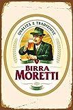 HiSign Birra Moretti Italienisches Italien BierBlechwand
