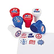 Stamps Patriotic 4th of July Stampers, USA Flag, I Love USA, Boom - Assorted (6-Pack)