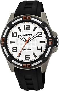 Calypso street life Mens Analog Quartz Watch with Rubber bracelet K5760/4