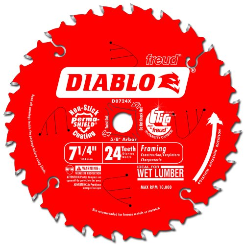 Diablo D0724X Framing Saw Blade, Multi
