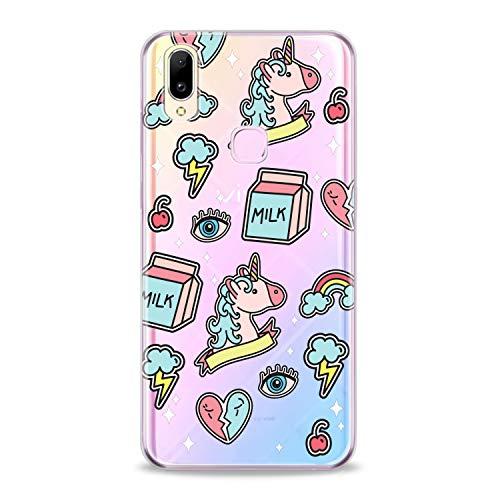 Lex Altern TPU Case Compatible with Vivo V15 Pro V11 V9 V7 Plus V5 V3 X23 X21 X9 Nex Unicorn Stickers Cover Kids Art Lightweight What Clear Print Pink Soft Design Smooth Narwhal Slim fit Girly Smile