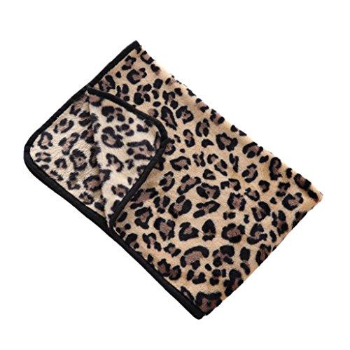 Hearsbeauty Haustierdecke für Hunde und Katzen, Leopardenmuster, Zebra, Kuh, warme, weiche Schlafunterlage, Geschenk