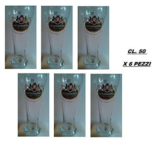 Vaso Cerveza herrnbrau Hefeweizen cl. 50Set 6Pz.