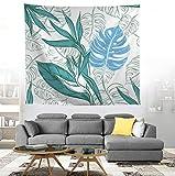 Motif de plantes tropicales sur le mur de jardin tissu suspendu polyester tapisserie ferme décor serviette de plage tapis de pique-nique yoga 150 * 200 cm