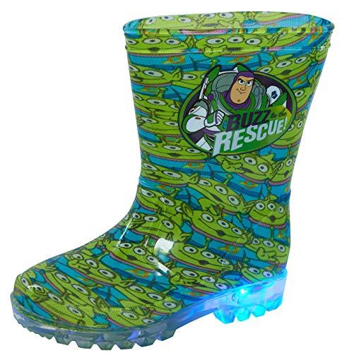 Disney Toy Story Light Up Wellington Boots 6 UK Child Green