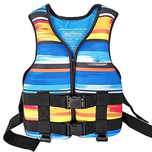 Yeah-hhi Erwachsene Auftriebsweste Schwimmen Bootfahren Skiangeln Drifting Life Weste Wasser Sport Neoprenjacke Schwimmen Weste,Blau,One Size