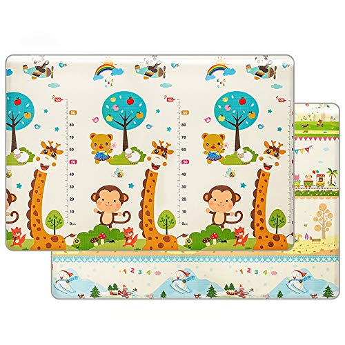 Why Should You Buy Zhouminli Kids' Rugs Non-Toxic Double-Sided Waterproof Silk XPE Antiskid Children...