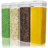 Numyton Contenedor de almacenamiento con tapa hermética, Latas de sin BPA,...