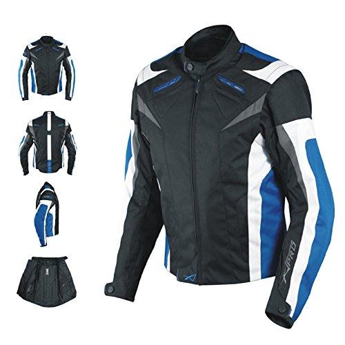 Giacca Lady Donna Tessuto Cordura Moto Protezione Manica Staccabile Blu M
