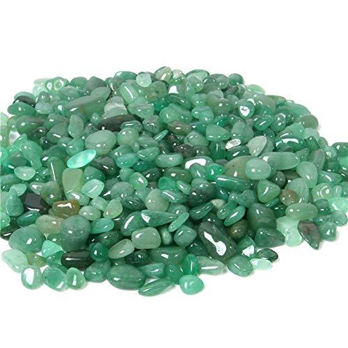 Natural Green Aventurine Quartz Stone Chips Beads No Hole Tiny Gravel Beads For DIY Women Necklace Materials Home Decor (Color : 1, Item Diameter : 100g)