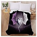 Black White Dragon Heart Home Decoration Printing Velvet Plush Throw Blanket Comfort Design Fleece Blanket