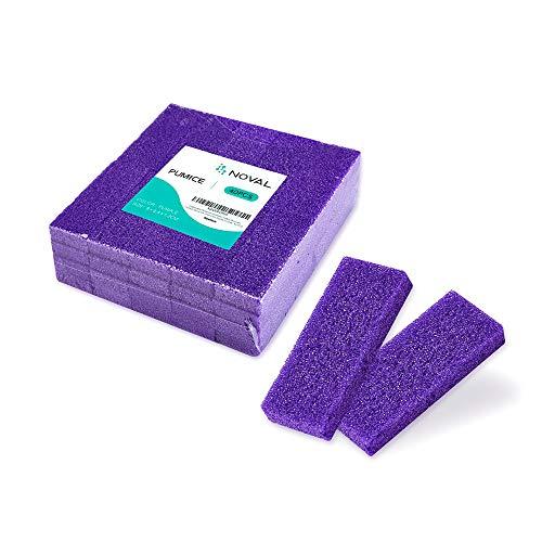 Disposable Pedicure Scrubber Callus Remover Pumice Stone for Foot Care Purple Coarse, 40 PCS
