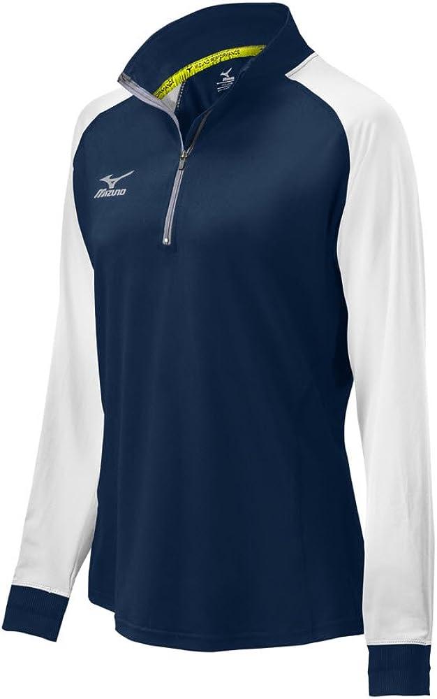Mizuno Women's Elite 9 Prime 1 Overseas parallel Lowest price challenge import regular item Jacket Large 2 Navy Zip White