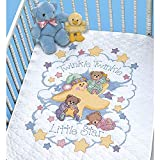 Twinkle Twinkle' Stamped Cross Stitch Quilt Kit Baby