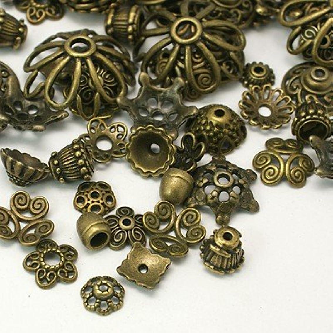 PEPPERLONELY Brand 50 Gram Antiqued Bronze Tibetan Style Bead Caps 8mm ~ 20mm