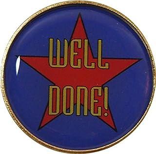 Well Done badge à épingle avec Livraison gratuite: Lot de 5