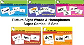 I See, I Spell, I Learn® Super Combo Picture Sight Words & Picture Homophones Flashcards