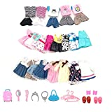 Lembani 20 Pcs Set Adorable Doll Handmade Party Dress Casual Outfits with Shoes for 5-6 inch Doll Dress up Little Girl Christmas Birthday Gifts
