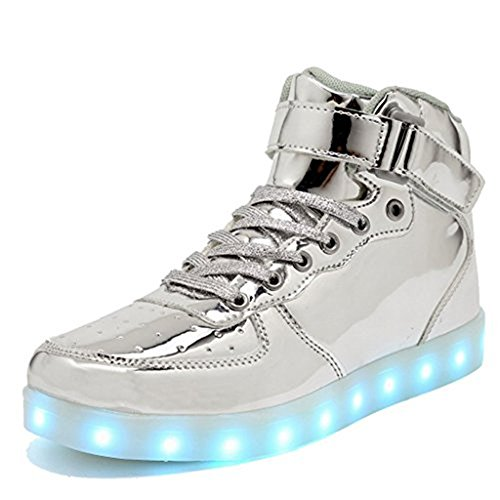 IGxx LED Light Up Shoes Light for Men High Top LED Sneakers USB Recharging Shoes Women Glowing...