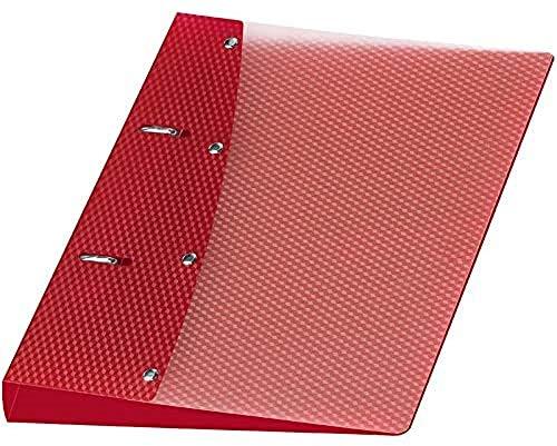 Veloflex 1151421 Ringordner Diamond, Ringbuch, Ordner, DIN A5, 2-Ring-Mechanik, 20 mm, PP-Vollkunststoff, rot