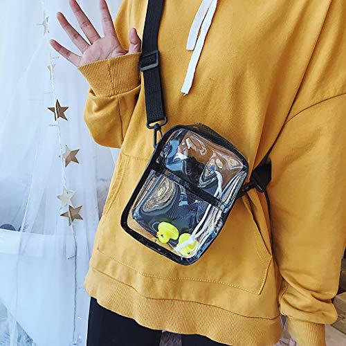 Rucksack Sportbeutel Mädchen Backpack Schultaschen Für Herren Tasche Wanderrucksack Reiserucksack,Frauen transparent vielseitig Messenger Bag Schulter Mode Tasche(Schwarz)