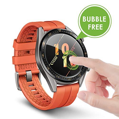 apiker [4 Stück] Schutzfolie für Huawei Watch GT Classic und GT Active, Huawei Watch gt Ative Panzerglas mit 9H-Härte, Kratzfest, blasenfrei, hohe Definition, hohe Empfindlichkeit - 3