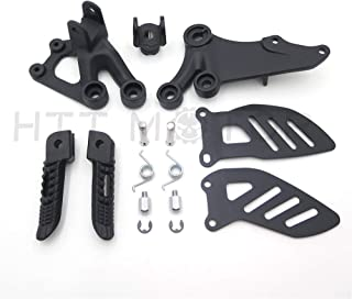 Black Front Rider Foot Pegs Bracket Fit For Suzuki Gsxr600 Gsxr750 2006-2010