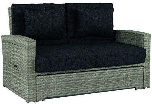 Schlichter Möbel Gartensofa Hampton 2-Sitzer ausziehbar Polyrattan